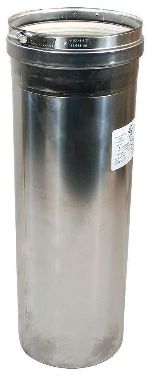 """4"""" x 47.75"""" Stainless Steel Gas Vent Pipe - Z-VENT"""