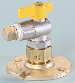 """3/4"""" Yellow Brass Flange Mount 90D Termination Fitting"""
