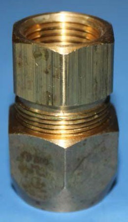 "1/2"" Brass Female Straight Adapter - AutoSnap, FPT x Tubing Nut"
