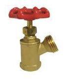 """3/4"""" Brass Boiler Drain Valve - Handwheel, FPT x MHT, 125 psi CWP"""