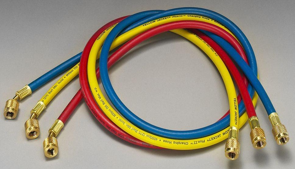 "1/4"" Yellow Nylon Barrier Charging Hose - PLUS II"