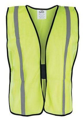 Reflective Elastic Side Strap Hook and Loop Closure Safety Vest