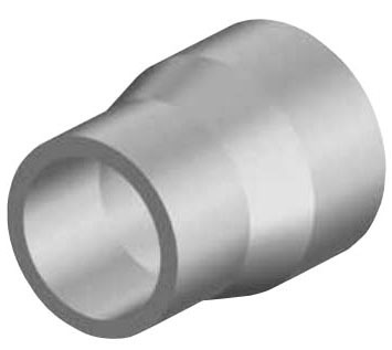 "2"" x 1-1/4"" Yellow Medium Density Resin Reducer - DR 10/11, Butt Fusion"