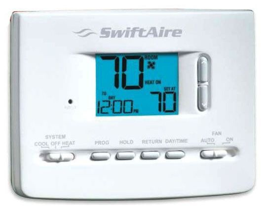 5/2 Day Digital Programmable Thermostat - 24 VAC, 3 A
