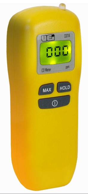 0 to 999 PPM Carbon Monoxide Detector - 1 PPM Resolution, 3 Percent Accuracy, with 9 V Standard Alkaline Battery