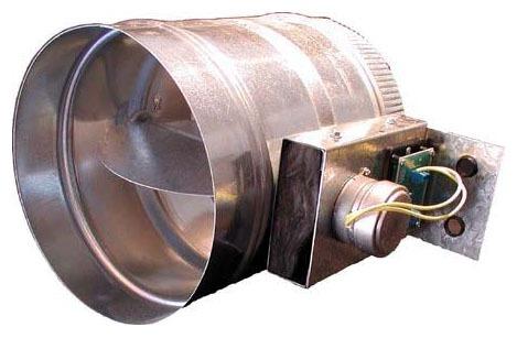 """10"""" Round Low Pressure Zone Damper, Cold Rolled Galvanized Steel"""
