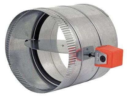 """10"""" Round Automatic Zone Damper, Galvanized Steel"""
