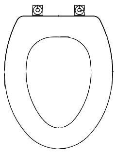 Elongated Toilet Seat - Closed Front with Cover, Molded Wood