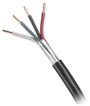 14/4 Stranded THHN Mini-Split Tray Cable - Genesis, Black PVC Jacket, 50' Coil, 600 V