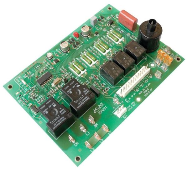 208/230 VAC Direct Spark Ignition Furnace Control Board - 24 VAC Control Voltage, 0.3 A Gas Valve, -40 to 75 Deg C