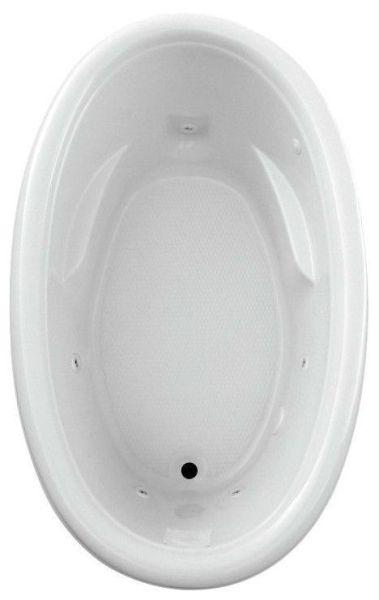 """65"""" x 40"""" x 23"""" Drop-In Bathtub - Addison, White"""