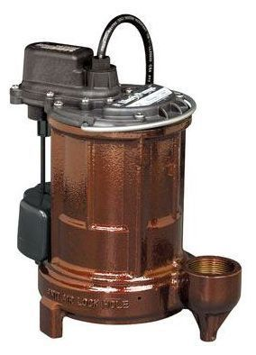 1/3 HP Submersible Sump Pump - Cast Iron, 44 GPM, 115 V
