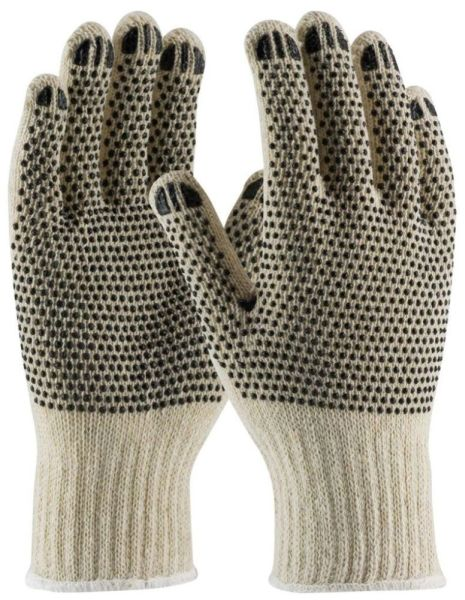 Large Natural Gloves - Cotton / Polyester