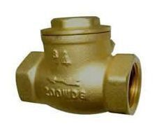 "3/4"" Forged Brass T-Pattern Swing Check Valve - Eco-Valve, FPT, 200 psi WOG"