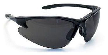 Scratch Resistant Safety Glasses, Gray Lens Tint