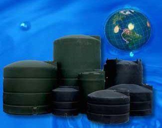 "90"" Water Storage Tank - Black, 2500 Gallon"