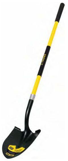 "48"" Fiberglass Handle Round Point Shovel - TRU PRO, 9"" Grip"