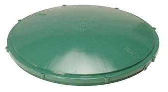 "24"" Septic Tank Riser Lid - Domed, Green"