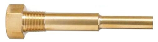 "4-1/2"" Thermowell, Brass"