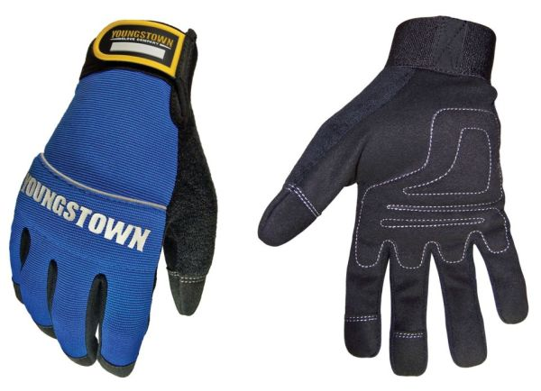 Single Layer Hand Gloves, Terry Cloth/Nylon/Suede Synthetic L