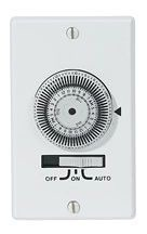 KM2ST-1G 24-HOUR, ELECTROMECHANICAL IN-WALL TIMER, 20A, 120V, WHITE, 1 GANG