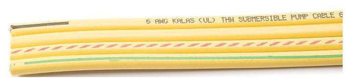 440116.02.005 10-3 W/GRD X 500' FL/STD YELLOW PUMP WIRE 42339 KALAS