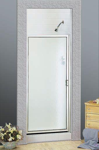"""175-15 BASCO LOGIK CH/OBS GLASS SHOWER DOOR (31-7/8""""-32-5/8"""" OPEN X 63"""" T)"""