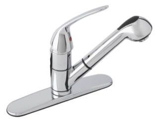 G40-445-W GERBER MAXWELL SE CH SGL LVR HDL 2F PULL-OUT SPRAY KITCHEN FAUCET