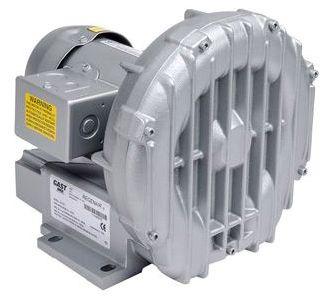 """R2103 GAST 1/2HP 39"""" H2O MAX PRESS 42CFM OPEN FLOW BLOWER W/ POWER CORD F/ E50, E60, E75 ECOPOD"""