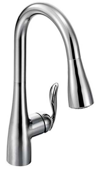 M-7594C MOEN ARBOR CH SGL LVR HDL HI ARC PULL-OUT SPRAY KITCHEN FAUCET