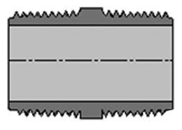 "884-120M 1"" X 12"" PVC SCH 80 NIPPLE SPEARS (MACHINED)"