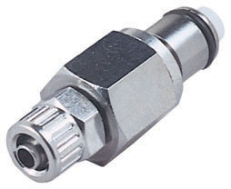 """LC20004 1/4"""", Ferruleless PTF, 1.25"""" L, 250 PSI, Chrome Plated, Brass, Straight Through/Non-Valved/In-Line, Coupling Insert"""