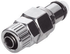 """LC20006 3/8"""", Ferruleless PTF, 1.38"""" L, 250 PSI, Chrome Plated, Brass, Straight Through/Non-Valved/In-Line, Coupling Insert"""