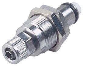 "LC40004 1/4"", Ferruleless PTF, 1.83"" L, 250 PSI, Chrome Plated, Brass, Straight Through/Non-Valved, Coupling Insert"