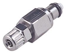 "MC20025 5/32"", Ferruleless PTF, 1.13"" L, 250 PSI, Chrome Plated, Brass, Straight Through/Non-Valved/In-Line, Coupling Insert"