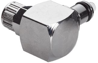 "MC2104 1/4"", Ferruleless PTF, 1.18"" L, 250 PSI, Chrome Plated, Brass, Straight Through/Non-Valved/Elbow, Coupling Insert"
