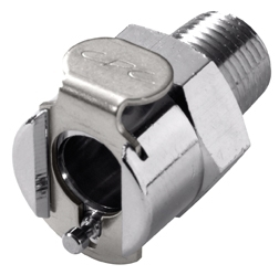 """MCD1002 1/8"""", MPT, 1"""" L, 250 PSI, Chrome Plated, Brass, Shut-Off/Valved/In-Line, Coupling Body"""