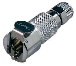 "MCD1304 1/4"", Ferruleless PTF, 1.77"" L, 250 PSI, Chrome Plated, Brass, Shut-Off/Valved/In-Line, Coupling Body"