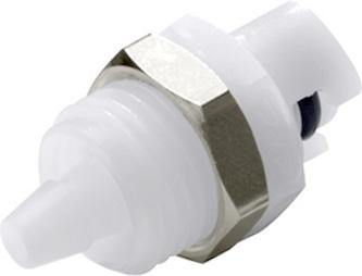 "SMMPM02 1/8"", Hose Barb, 0.9"" L, 100 PSI, Natural White, Acetal, Straight Through/Non-Valved, Coupling Insert"