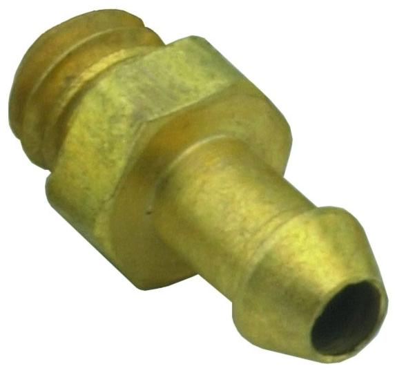 """11750-2-PKG 1/16"""" x #3-56 TPI, Hose Barb MPT, Brass, Connector"""