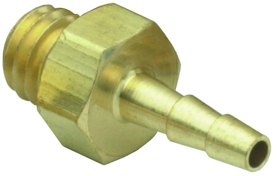 """11752-2-PKG 1/16"""" x #10-32 TPI, Hose Barb MPT, Brass, Connector"""