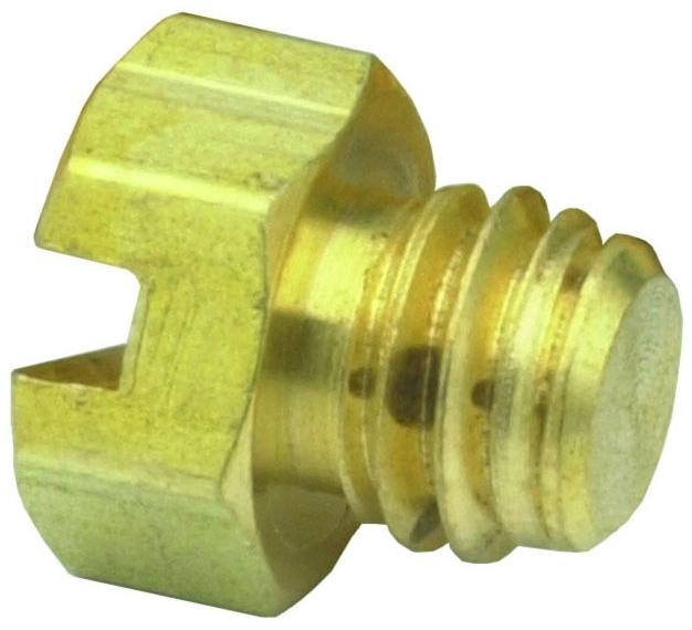 """11755-PKG 0.281"""" x 1/4"""", #10-32 TPI, MPT, Brass, Hex Head, Screw Plug"""