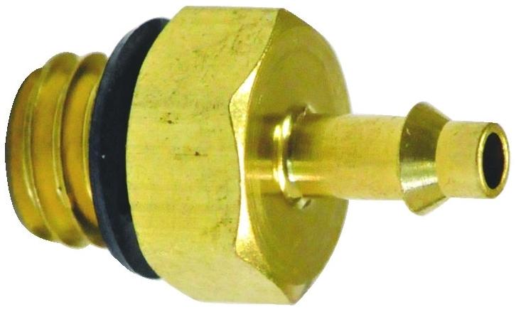 "11792-5-PKG 1/16"" x #10-32 TPI, Barb MPT, Brass, Connector"