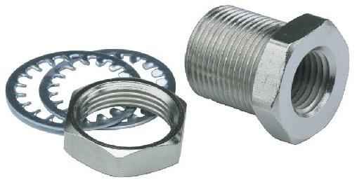 "15027-ENP-PKG #10-32 TPI, 0.5"" L, Electroless Nickel Plated, Brass, Valve Bulkhead"