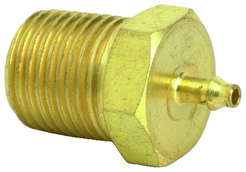 "2CP2-PKG 1/16"" x 1/8"", Hose Barb MPT, Brass, Connector"