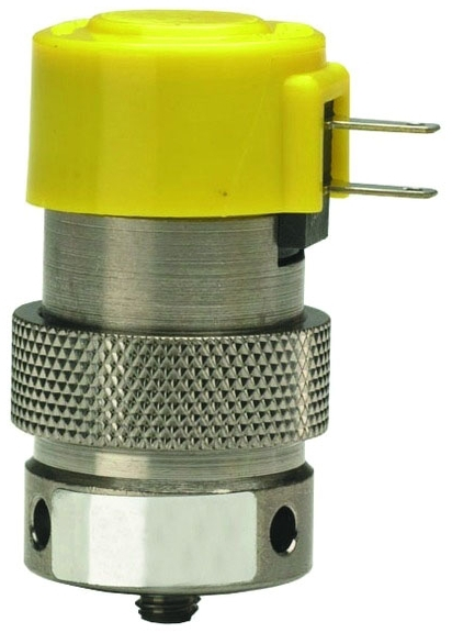 "ET-2M-12 0.110"", 12 VDC, 0.67 W, 105 PSI, Nickel Plated, Brass Body, Stainless Steel Core, NC, 2-Way, Manifold Mount Valve"