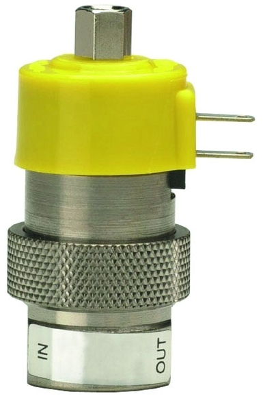 ETO-3-24 #10-32 TPI, FPT x FPT, 105 PSI, Nickel Plated, Brass, 3-Way/Fully-Ported/Oxygen Clean, Electronic Valve
