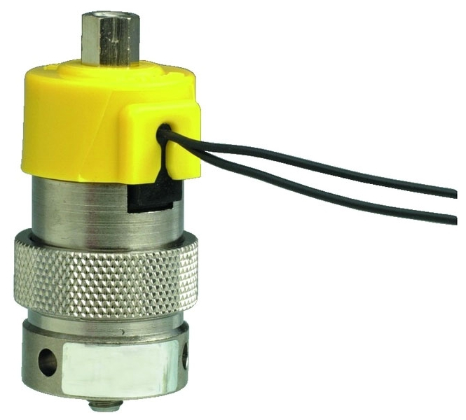 "EVO-3M-24 18"", 24 VDC, 0.67 W, 105 PSI, Nickel Plated, Brass Body, Stainless Steel Core, NO, 3-Way, Fully-Ported, Manifold Mount Valve"