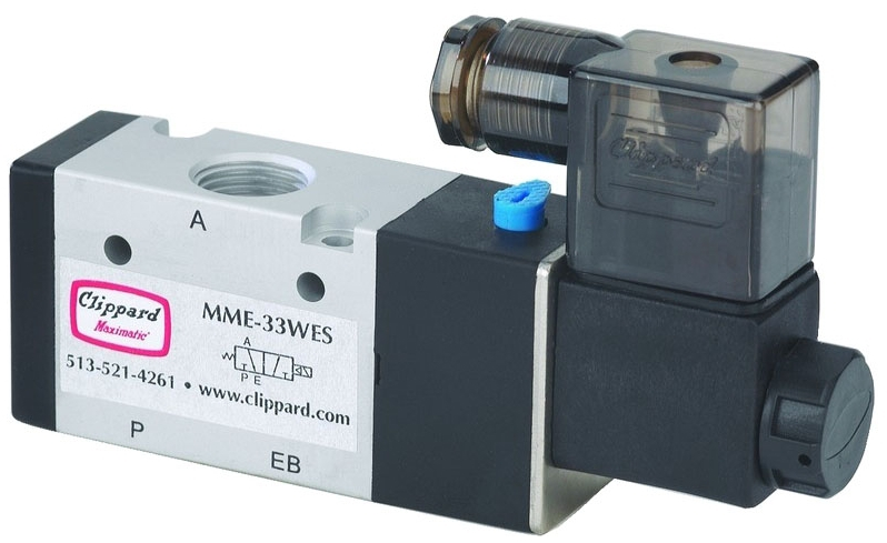 """MME-33WES-W24A 3/8"""" x 3/8"""", NPT NPT, 24 VAC, 20 to 125 PSI, Aluminum, NC, 3-Way, Electronic Pilot Operated, Solenoid Valve"""