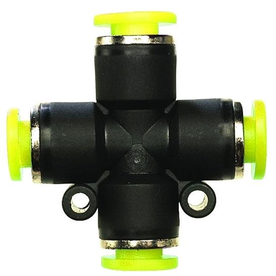 "PQ-CU05-PKG 5/32"" x 5/32"", Tube Tube, Plastic Resin, Union, Cross"